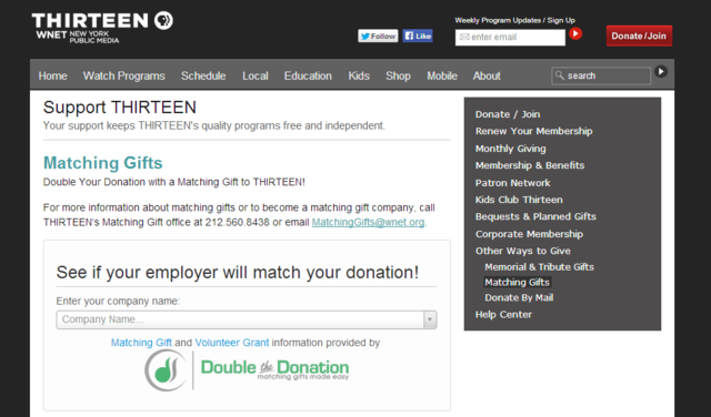 You can feature Double the Donation's plugin on your matching gifts page.