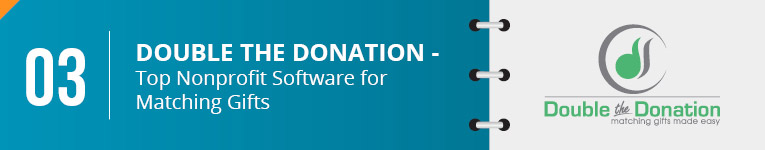 Double the donation is the top nonprofit software for matching gifts