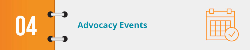 Check out this nonprofit advocacy example for advocacy events.
