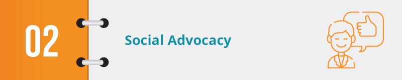 The best nonprofit advocacy examples employ social advocacy.