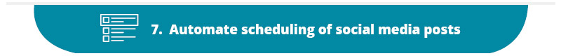 Scheduling and automating posts is one of the top nonprofit marketing best practices for social media.