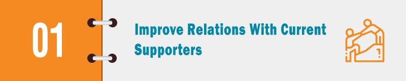 Kickoff your nonprofit marketing strategy by improving relations with current supporters.
