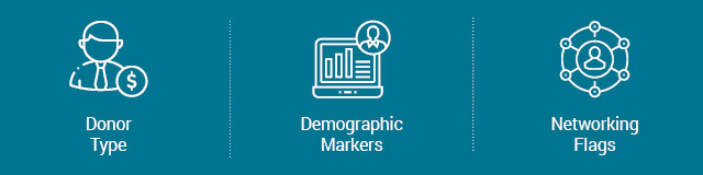 Segments to incorporate in your nonprofit marketing plan include donor type, demographic markers, and networking flags.