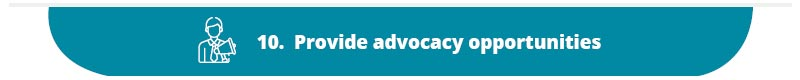 Provide advocacy opportunities as a part of your nonprofit marketing plan.
