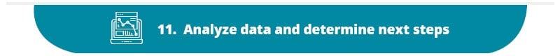 Analyze nonprofit marketing plan data and determine next steps.