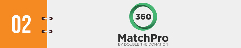 360MatchPro is a top Salesforce integration for matching gift fundraising.