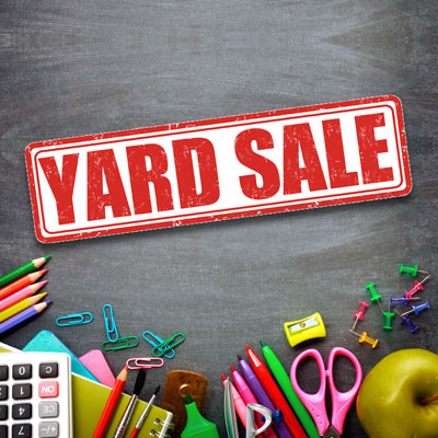 Try a school-wide yard sale for your next fundraising idea.