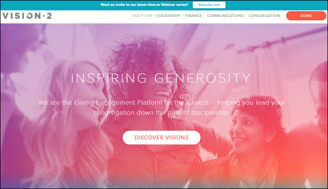 Check out Vision2's fundraising software for your church.