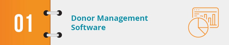 What is donor management software?
