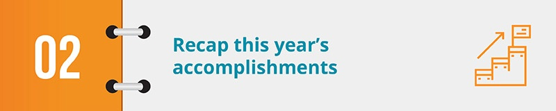 Your year-end campaign video should highlight major achievements from the year.
