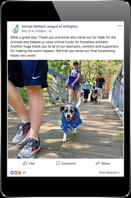 Animal Welfare League of Arlington Facebook Post