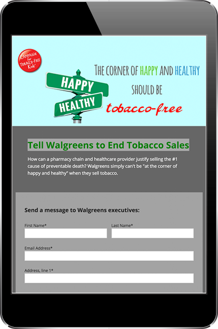 Campaign for Tobacco Free Kids Donation Page