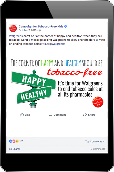 Campaign for Tobacco Free Kids Tweet