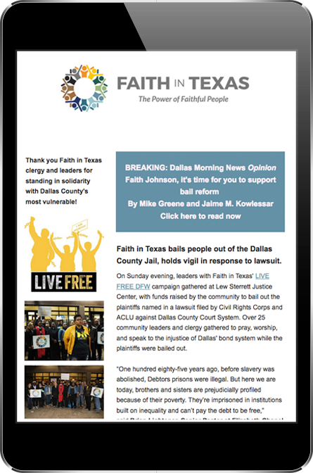 Faith in Texas Newsletter