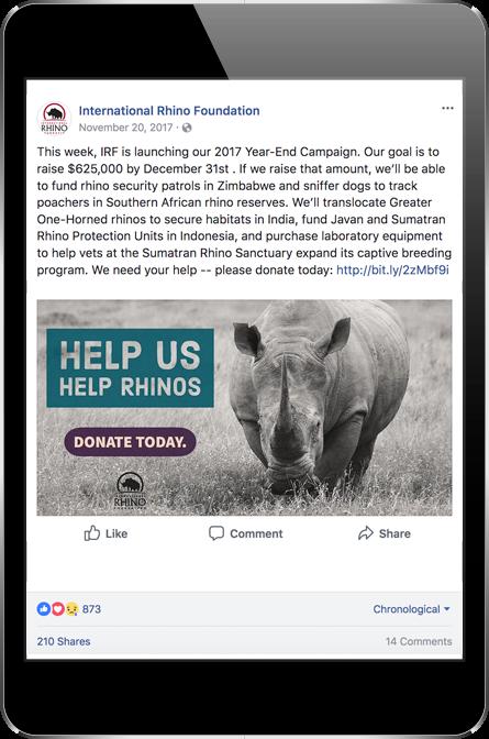 IRF Facebook Post