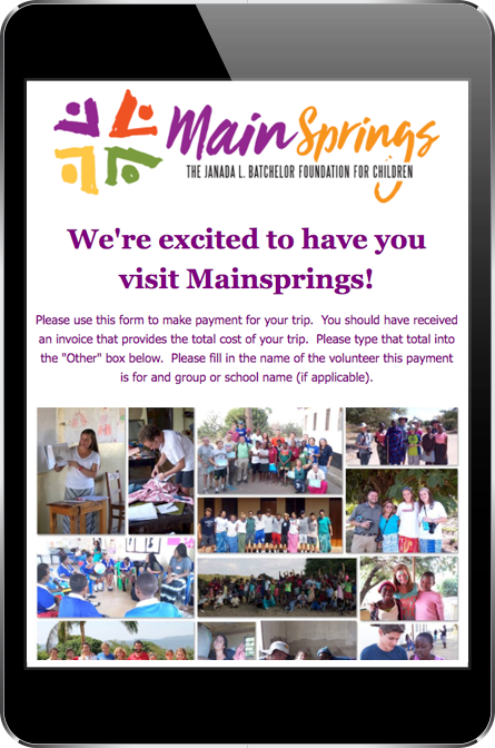 Mainsprings Donation Page