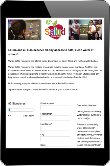 Salud America Petition