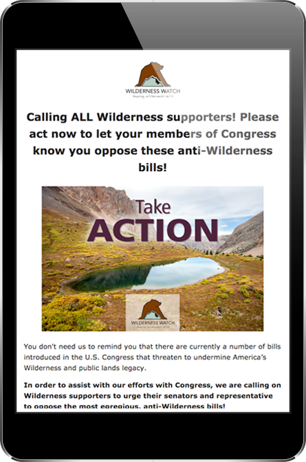 Wilderness Watch Donation Page