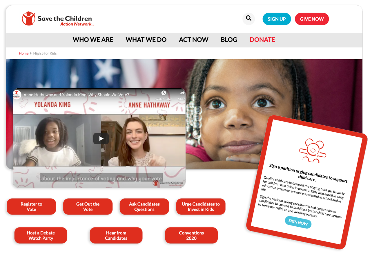 Advocacy Campaigns That Convert - High 5 for Kids